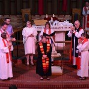 United Methodists' first openly gay bishop ordains first pastor